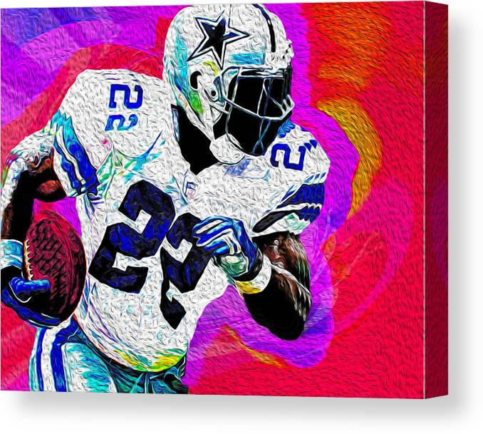 Dallas Cowboys Canvas Print featuring the painting Smith by Never Say Never