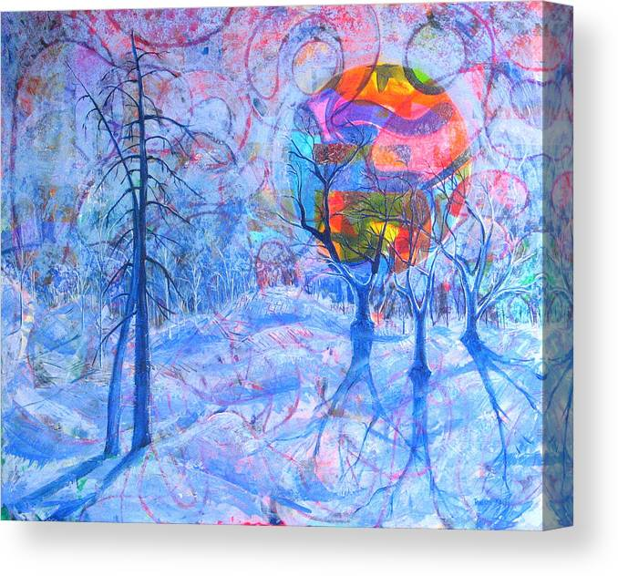 Winter Canvas Print featuring the painting Solstice by Rollin Kocsis
