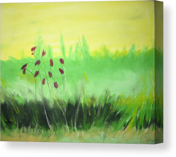 Canvas Print featuring the painting Spring by Ingrid Torjesen