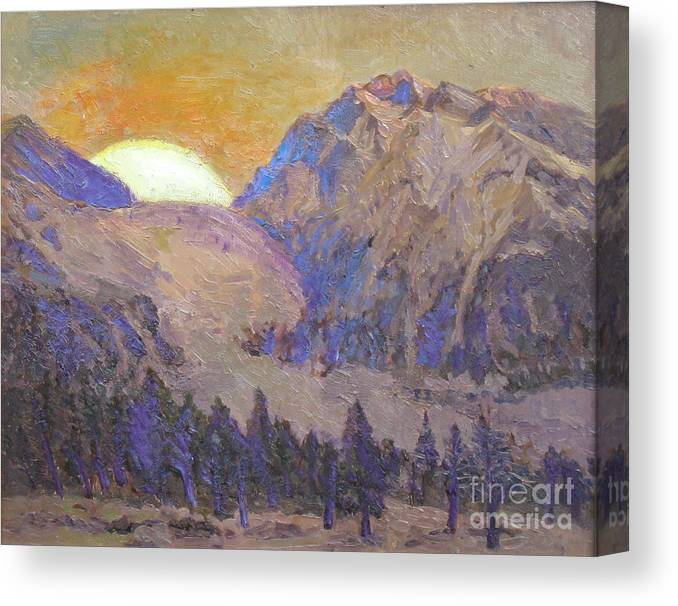 Sunrise Canvas Print featuring the painting Sunrise by Meihua Lu