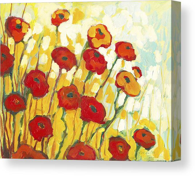 Landscape Canvas Print featuring the painting Surrounded in Gold by Jennifer Lommers