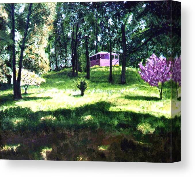 Landscape Canvas Print featuring the painting T C Steel by Stan Hamilton