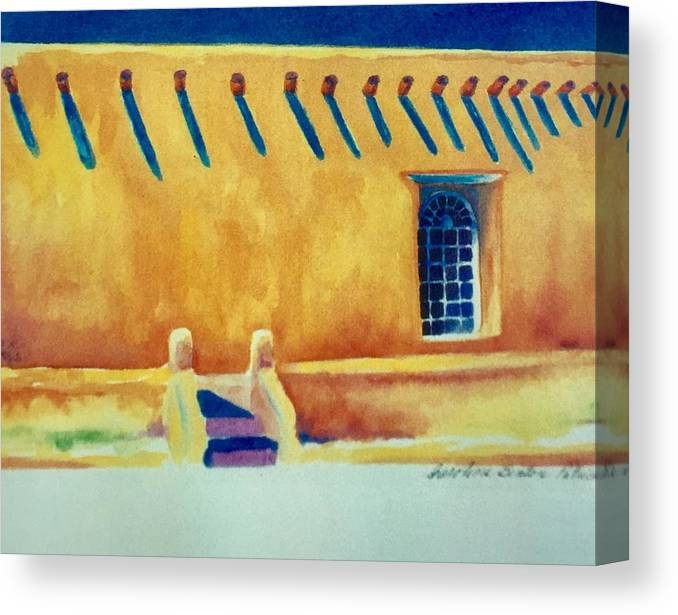 Taos Noon Canvas Print featuring the painting Taos Noon by Caroline Patrick