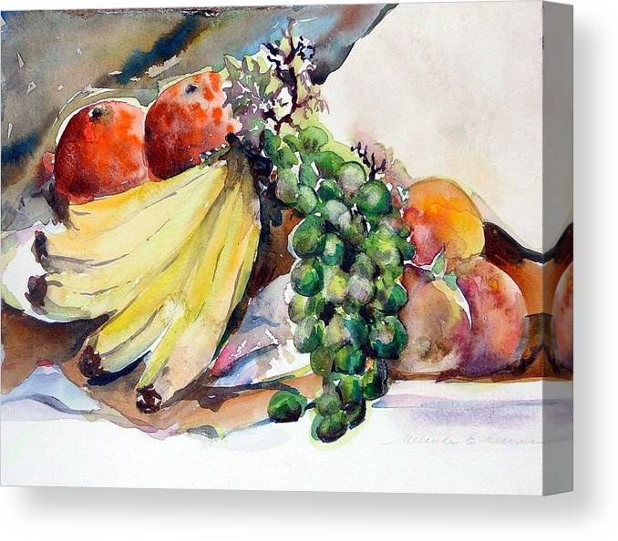 Fruit Canvas Print featuring the painting Thanksgiving by Mindy Newman