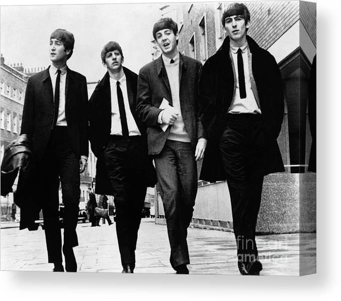 1963 Canvas Print featuring the photograph The Beatles by Granger