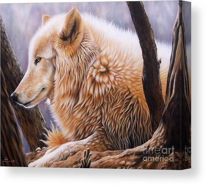 Acrylic Canvas Print featuring the painting The Daystar by Sandi Baker