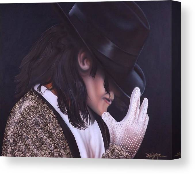 The King Of Pop Canvas Print featuring the painting The King of Pop by Darren Robinson