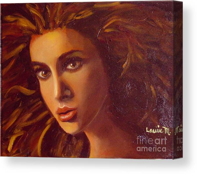 Portrait Canvas Print featuring the painting The Oracle by Laurie Morgan