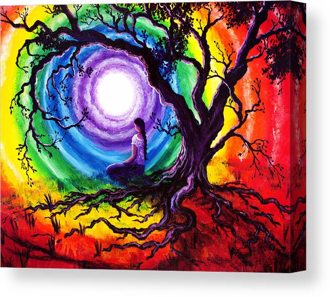Gypsy Canvas Print featuring the painting Tree of Life Meditation by Laura Iverson