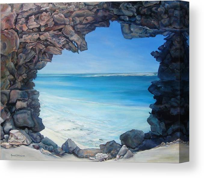 Landscape Canvas Print featuring the painting Trouee 4 by Muriel Dolemieux