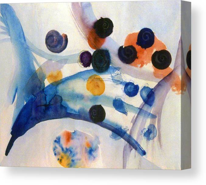 Abstract Canvas Print featuring the painting Under the Sea by Steve Karol