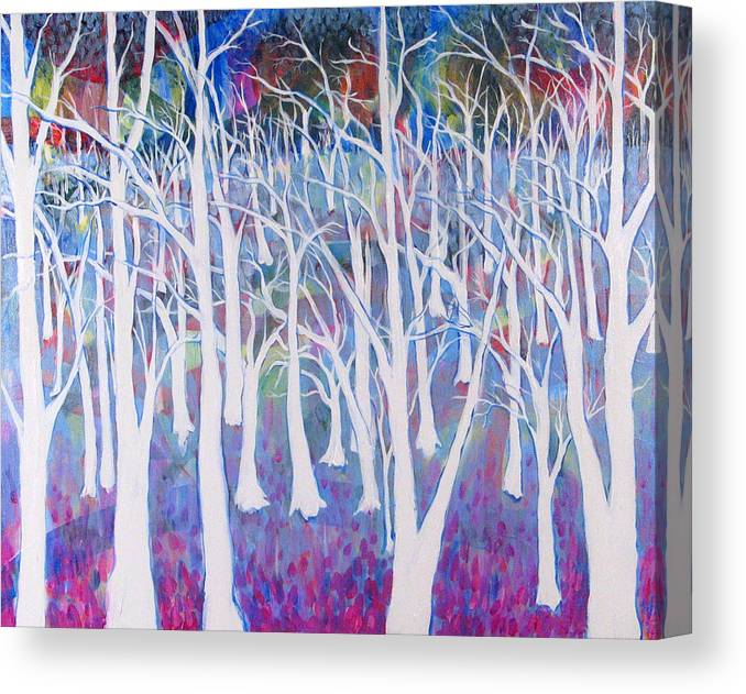 White Canvas Print featuring the painting White Forest by Rollin Kocsis
