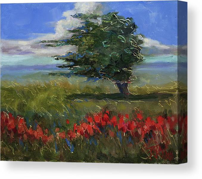 Windy Day Canvas Print featuring the painting Wyoming Gentle Breeze by Billie Colson