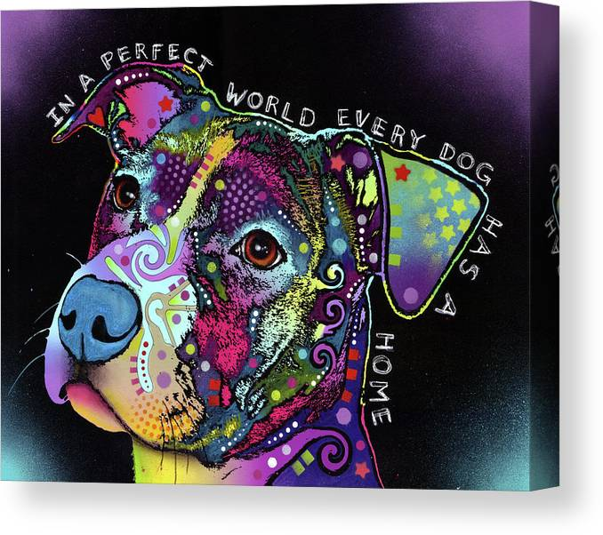In A Perfect World Canvas Print featuring the mixed media In A Perfect World by Dean Russo
