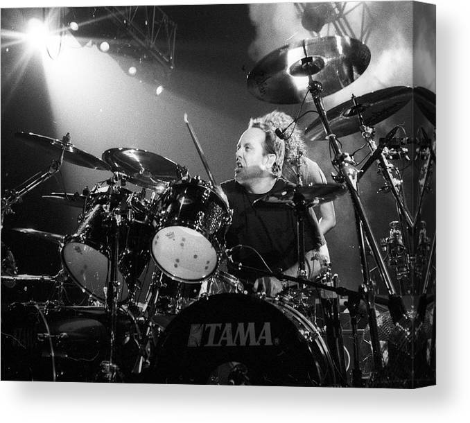 Music Canvas Print featuring the photograph Metallica Live by Larry Hulst