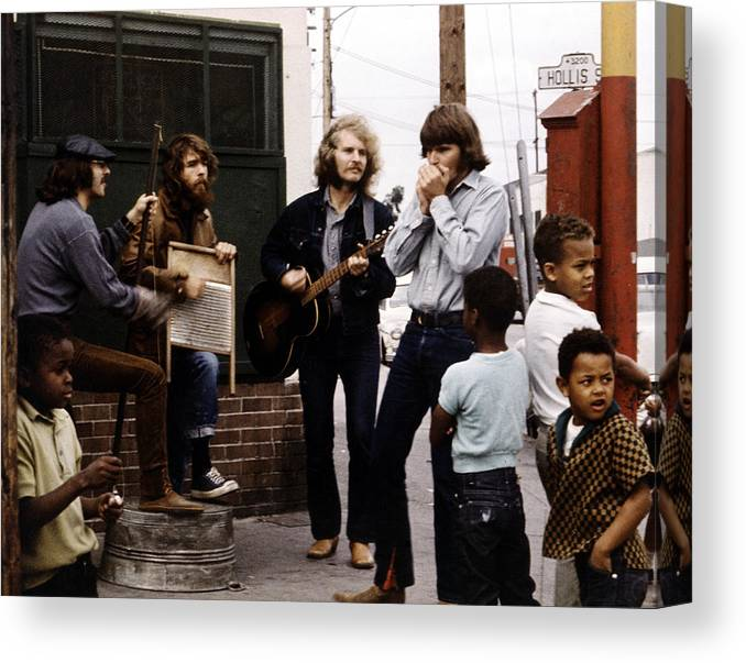 Music Canvas Print featuring the photograph Photo Of Creedence Clearwater Revival by Michael Ochs Archives