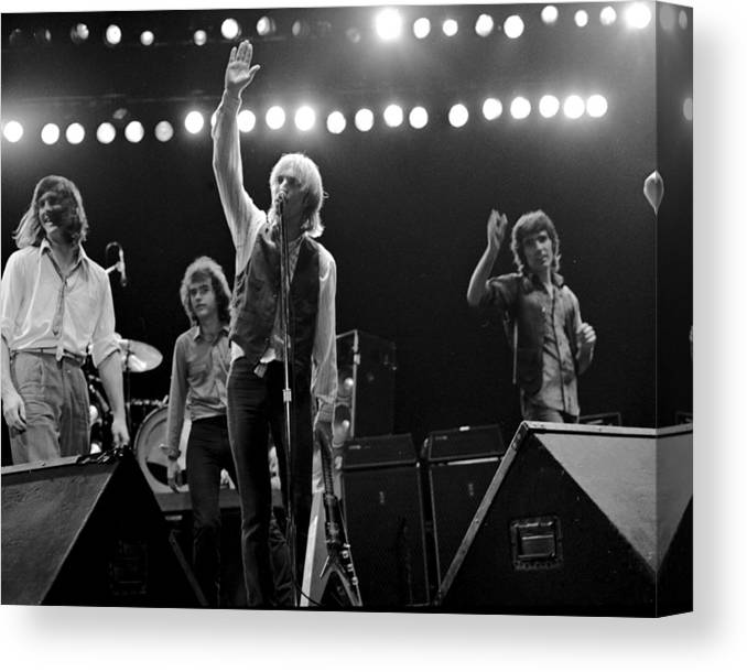 Music Canvas Print featuring the photograph Photo Of Tom Petty & The Heartbreakers by Michael Ochs Archives