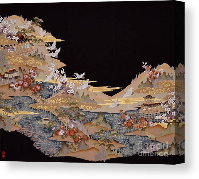 Canvas Print featuring the digital art Spirit of Japan T88 by Miho Kanamori