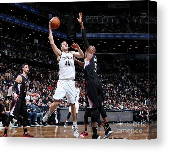 Nba Pro Basketball Canvas Print featuring the photograph La Clippers V Brooklyn Nets by Nathaniel S. Butler