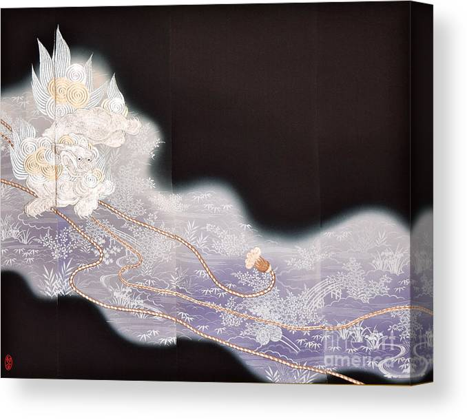 Canvas Print featuring the digital art Spirit of Japan T68 by Miho Kanamori