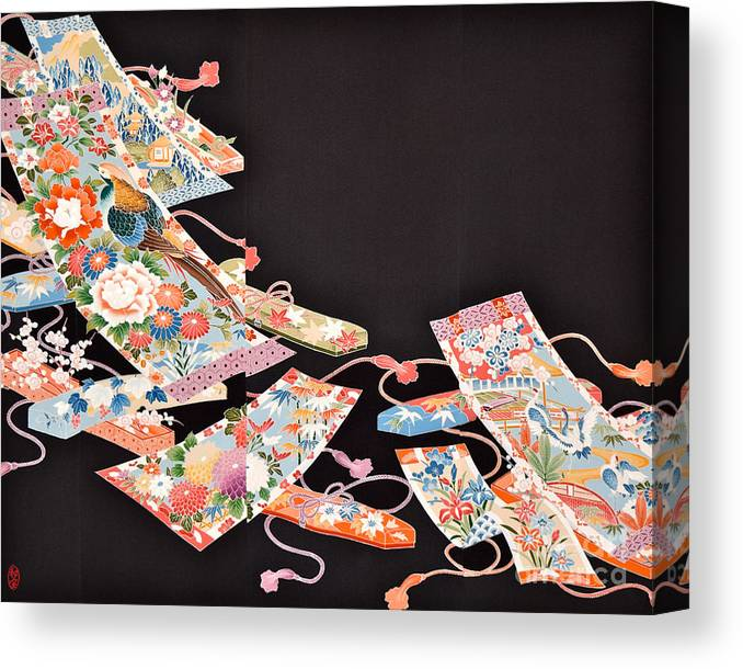 Canvas Print featuring the digital art Spirit of Japan T67 by Miho Kanamori