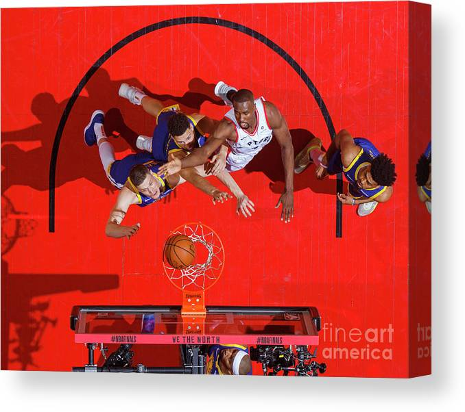 Playoffs Canvas Print featuring the photograph 2019 Nba Finals - Golden State Warriors by Mark Blinch