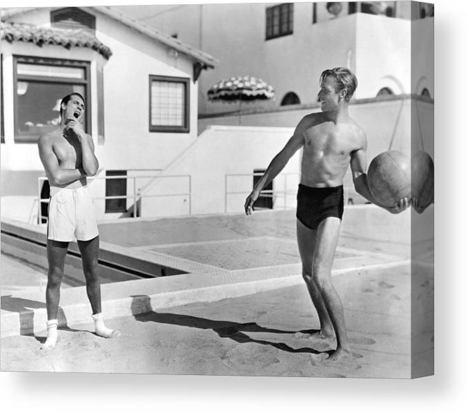 Cary Grant Canvas Print featuring the photograph Cary Grant by Hulton Archive