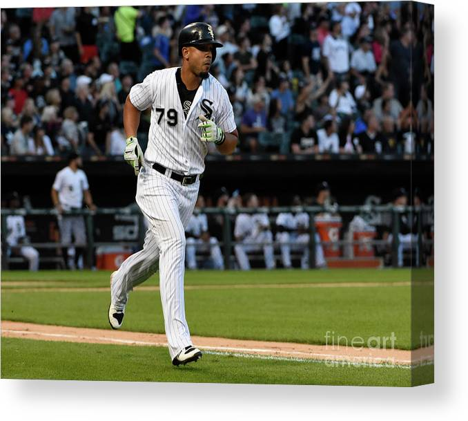 People Canvas Print featuring the photograph Kansas City Royals V Chicago White Sox by David Banks