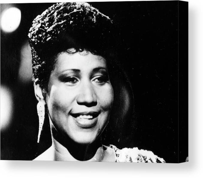 Aretha Franklin Canvas Print featuring the photograph Aretha Franklin by Afro Newspaper/gado