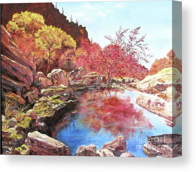 Czappa Canvas Print featuring the painting Arizona by Bill Czappa