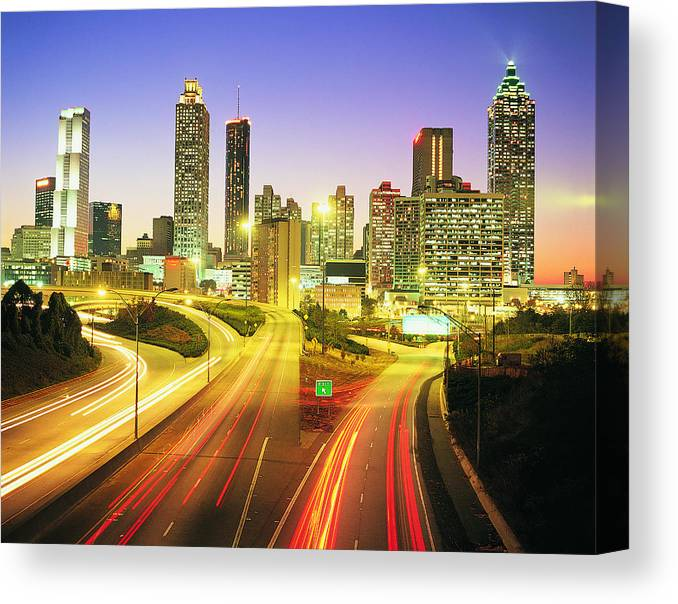 Atlanta Canvas Print featuring the photograph Atlanta Skyline, Georgia, Usa by Travel Ink