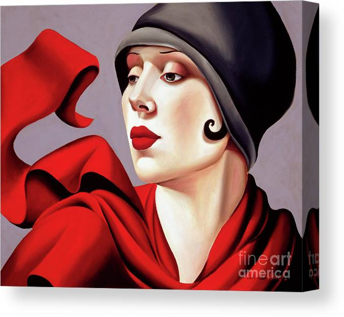 30s Canvas Print featuring the painting Autumn Zephyr by Catherine Abel