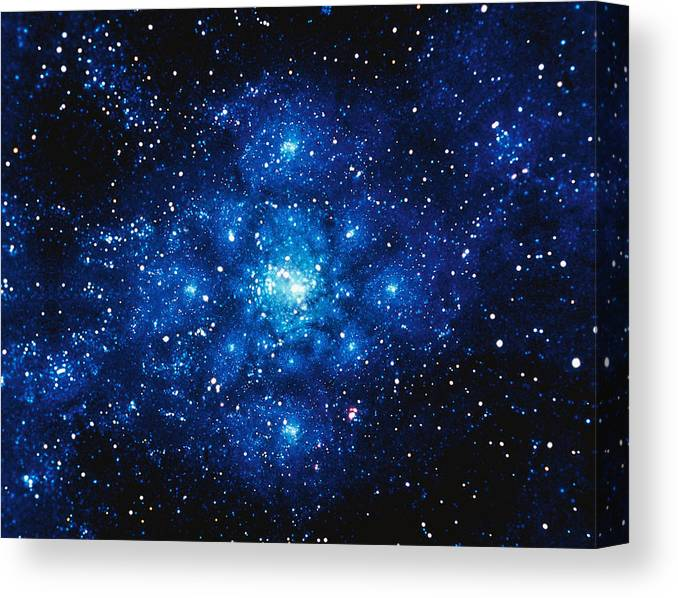 Majestic Canvas Print featuring the digital art Constellation Digitally Generated Image by Stocktrek