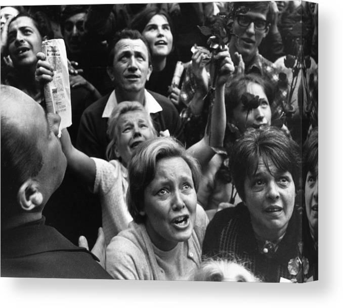 Crowd Canvas Print featuring the photograph Czech Crowd by Reg Lancaster