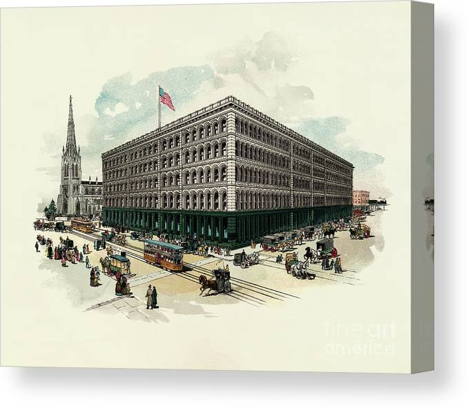 East Canvas Print featuring the photograph Exterior Of A T Stewart Department Store by Bettmann