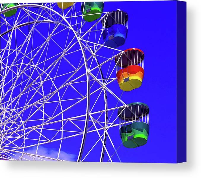 Outdoors Canvas Print featuring the photograph Ferris Wheel, Sydney, Australia by Hans-peter Merten