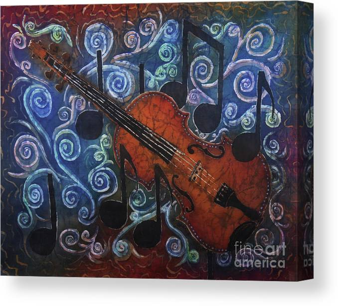 Fiddle Canvas Print featuring the painting Fiddle 1 by Sue Duda