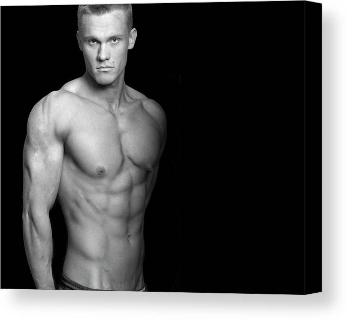 Cool Attitude Canvas Print featuring the photograph Fitness Portrait by Ragnak
