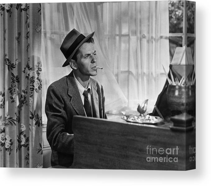 Singer Canvas Print featuring the photograph Frank Sinatra As Barney Sloan In Young by Bettmann