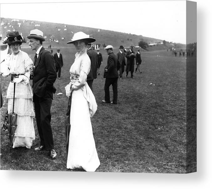 Scenics Canvas Print featuring the photograph Goodwood Fashion by Central Press