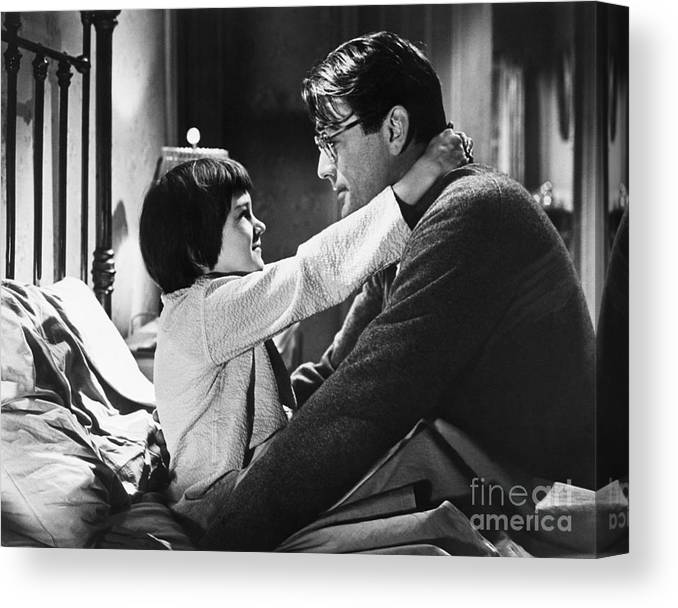 Child Canvas Print featuring the photograph Gregory Peck And Mary Badham In To Kill by Bettmann