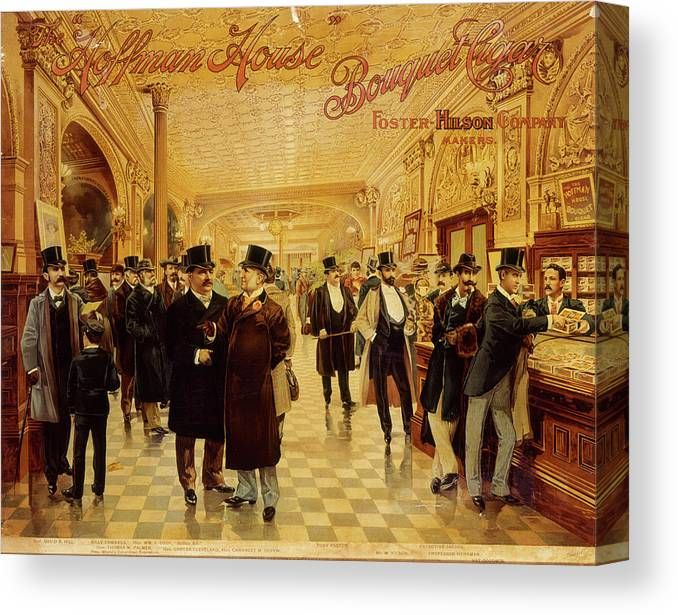 Lifestyles Canvas Print featuring the photograph Hoffman House Bouquet Cigars by The New York Historical Society