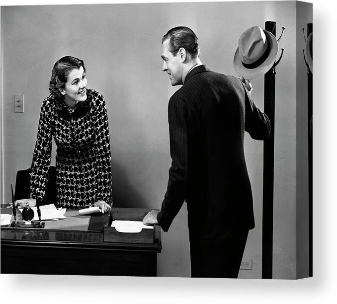 Corporate Business Canvas Print featuring the photograph Indoor Business Scene by George Marks