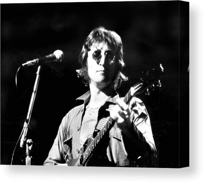 Usa Canvas Print featuring the photograph John Lennon. Performing At Th One To by New York Daily News Archive
