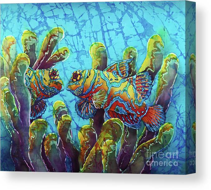 Mandarinfish Canvas Print featuring the painting Mandarinfish by Sue Duda