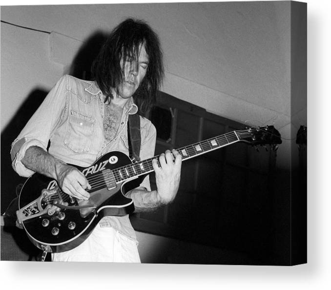 Music Canvas Print featuring the photograph Neil Young Live by Ed Perlstein