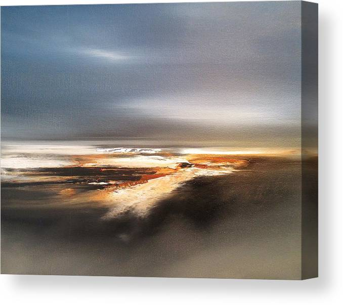 Seascape Canvas Print featuring the painting Ocean Dream by Roland Byrne