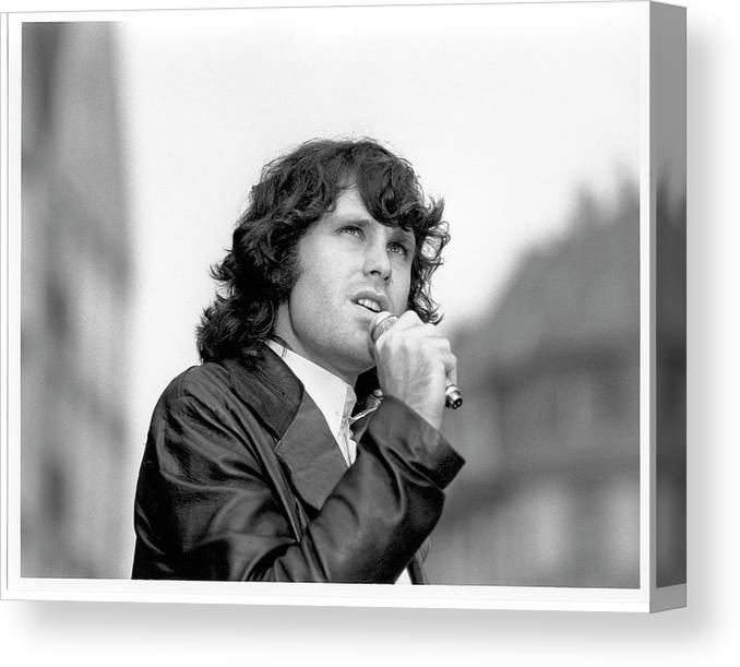 Music Canvas Print featuring the photograph Photo Of Morrison Jim by Michael Ochs Archives