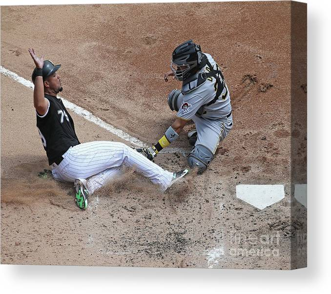 American League Baseball Canvas Print featuring the photograph Pittsburgh Pirates V Chicago White Sox by Jonathan Daniel