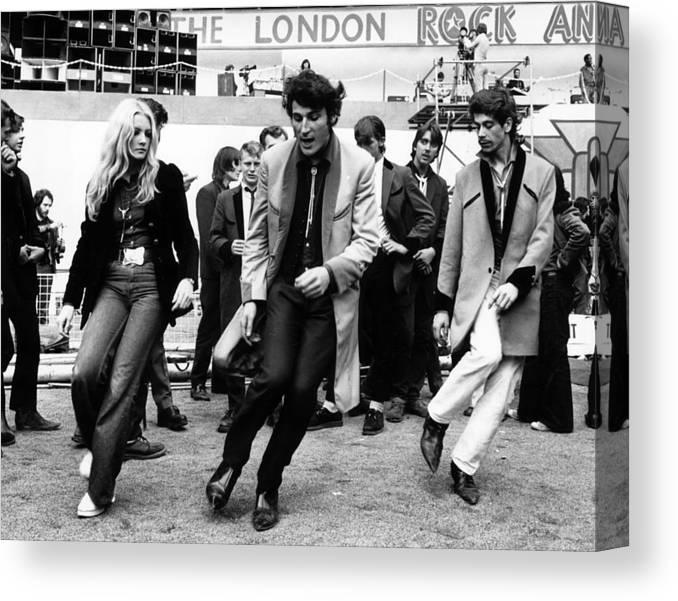 Rock Music Canvas Print featuring the photograph Revival by Michael Webb